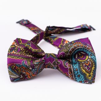 Papion barbati London Paisley 9  purple