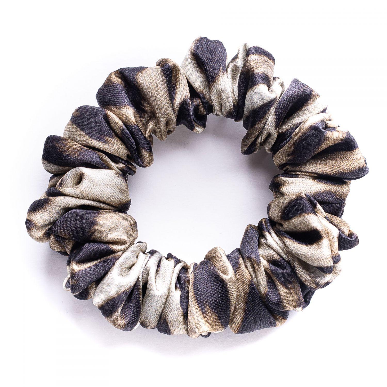 Hair Twist matase Scrunch Animal Print Black