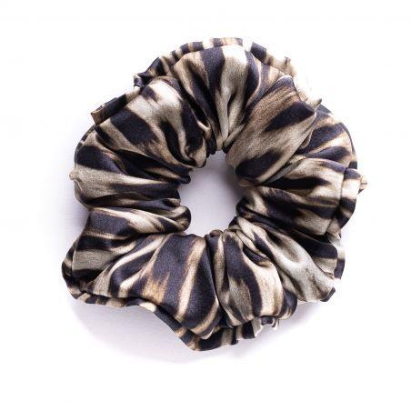 Hair Twist matase Animal Print Black