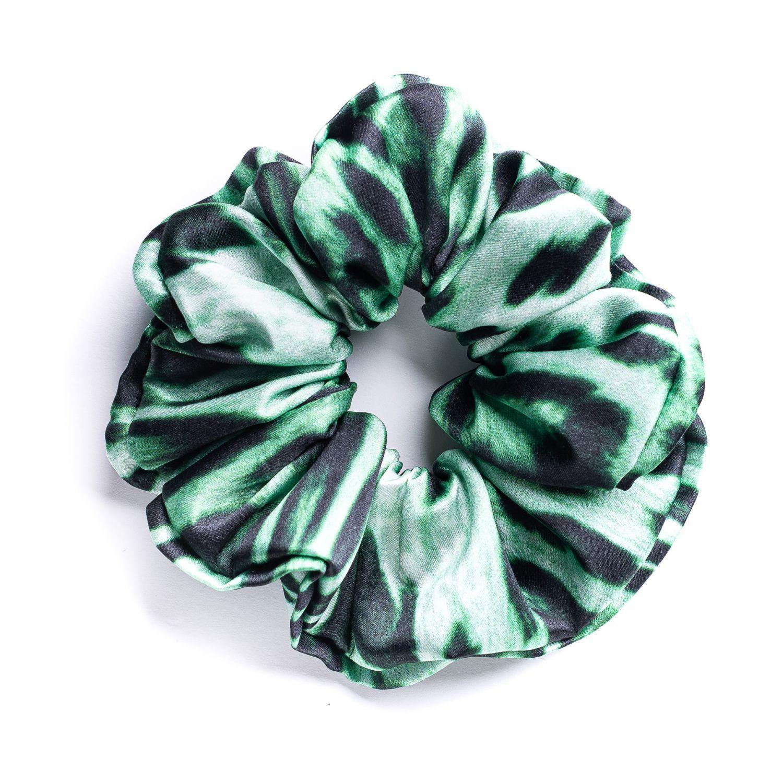 Hair Twist matase Animal Print Light Green