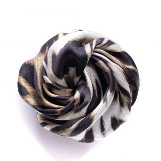 Hair Rose matase Animal Print Black