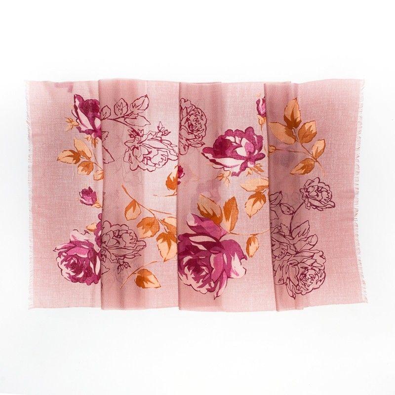 Wool Scarf Mila Schon roses