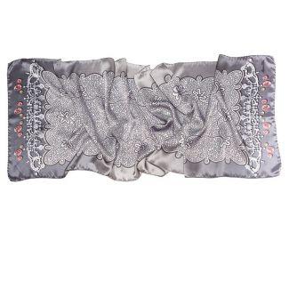 Silk Scarf Marina D`Este delicate grey