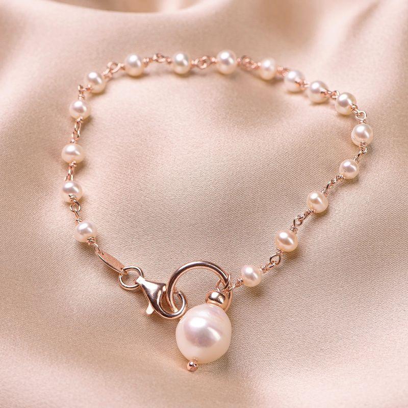 Bratara argint roz Pearls Essence