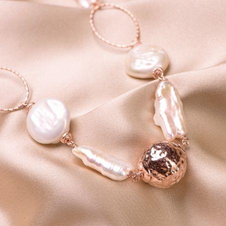 Colier argint roz Pearls Extravagance