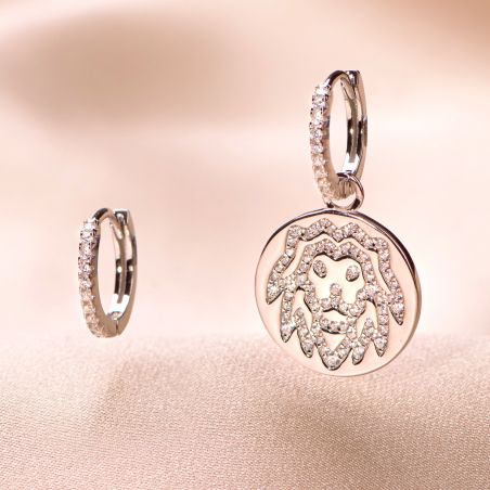 Cercei argint Leone Zodiac