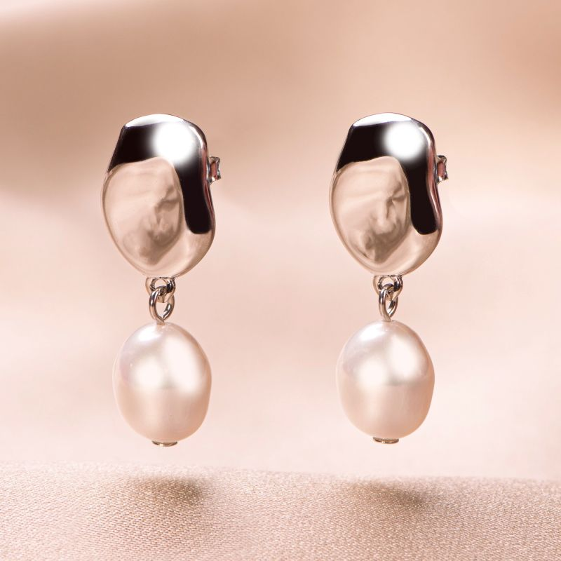 Cercei argint Only Pearls
