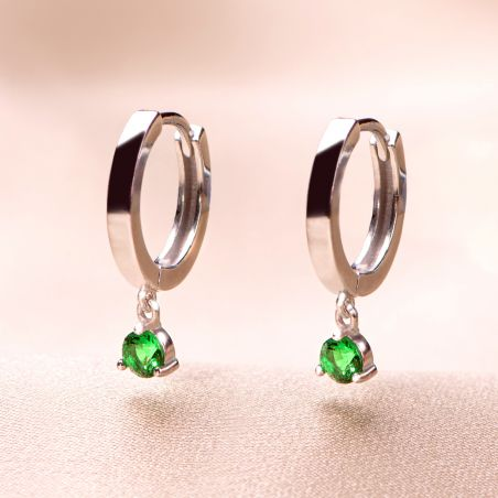 Cercei argint Gioia green