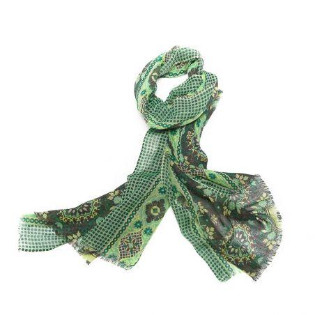Esarfa lana barbati Mila Shon green