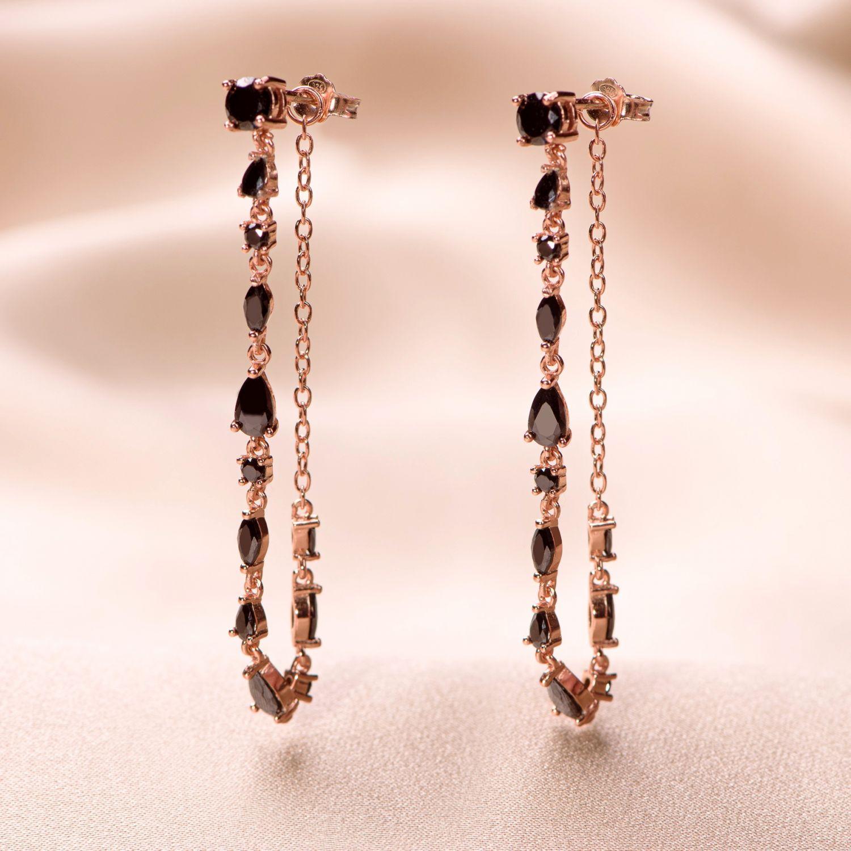 Cercei argint roz Irresistible Black