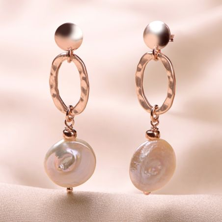 Cercei argint roz Cool Pearls Mood