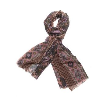 Wool scarf men Mila Shon kaki