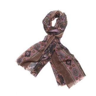 Wool scarf men Mila Schon kaki