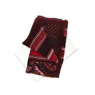 Esarfa lana barbati Mila Shon bordo stripes