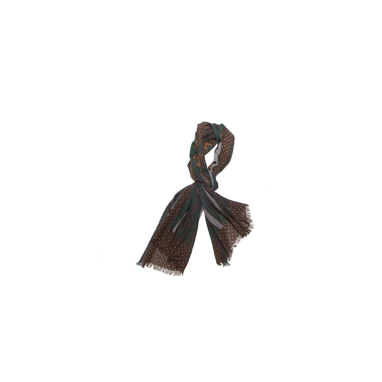 Wool scarf men M. Shon brown stripes