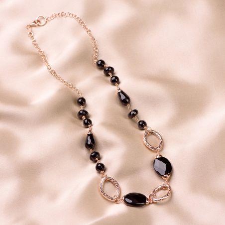 Sterling Silver pink Necklace Notte a Venezia