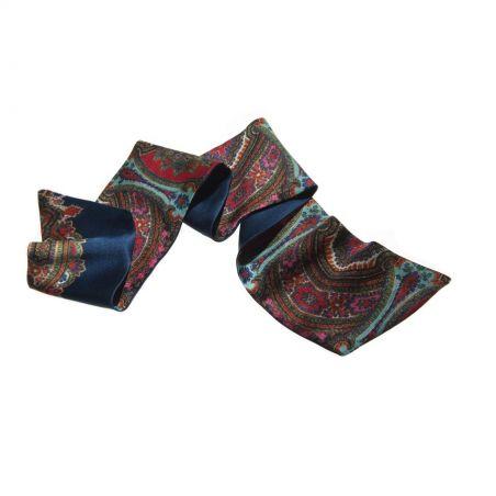 Eşarfă de păr Andalusia imprimeu turcoaz