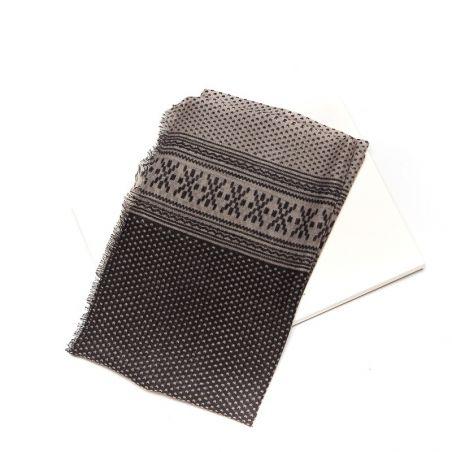 Wool scarf men Mila Schon gray