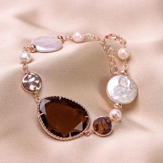Sterling Silver pink Bracelet Change the rule Sienna