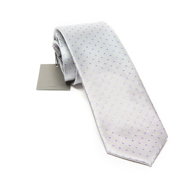 Silk Tie grey drops Laura Biagiotti