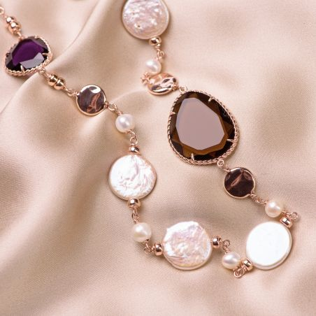 Sterling Silver pink Necklace Change the rule Sienna