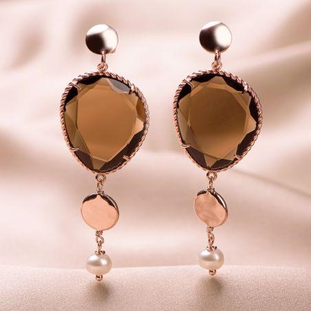Sterling Silver pink Earrings Change the rule Sienna