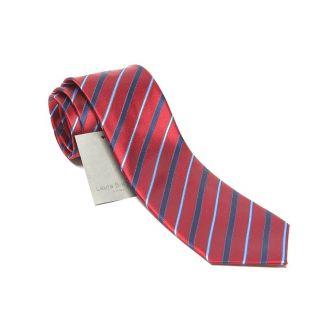 Silk Tie bordo stripes Laura Biagiotti