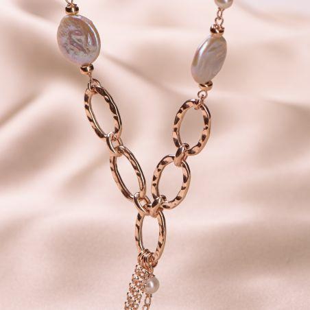 Colier argint roz Cool Pearls Mood