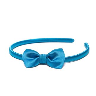 Headband cu fundita albastru marin