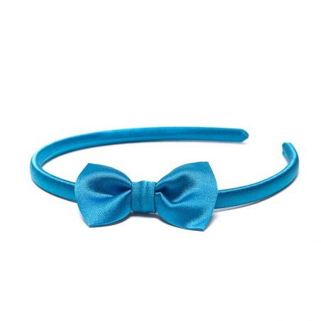 Headband with bow blue marine