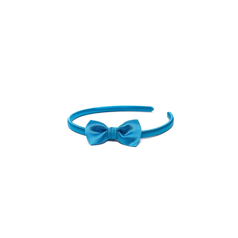 Headband with bow blue marine