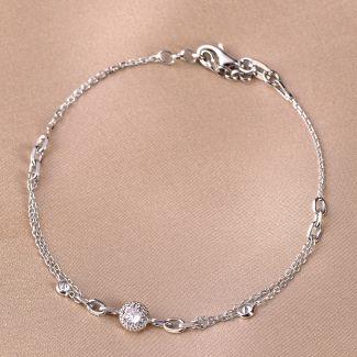 Sterling Silver Bracelet Romance