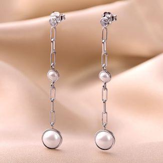 Cercei argint Dreamy Pearls