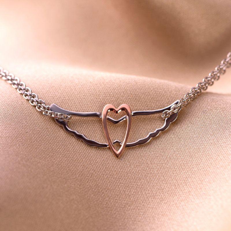 Bratara argint Angel Heart