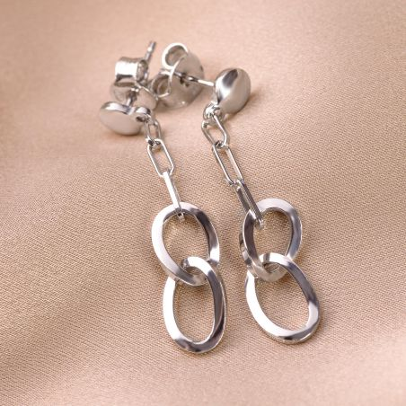Sterling Silver Earrings Almost Infinity