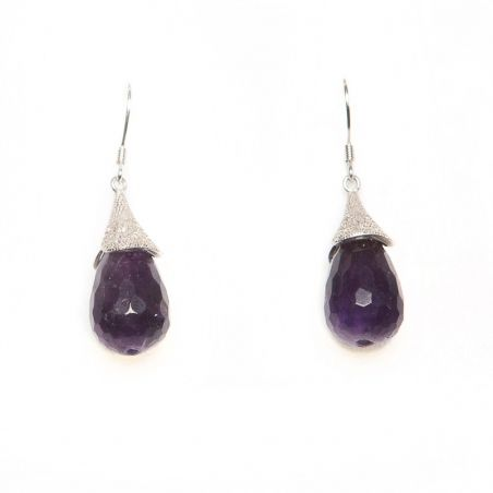 Lily silver amethyst earrings