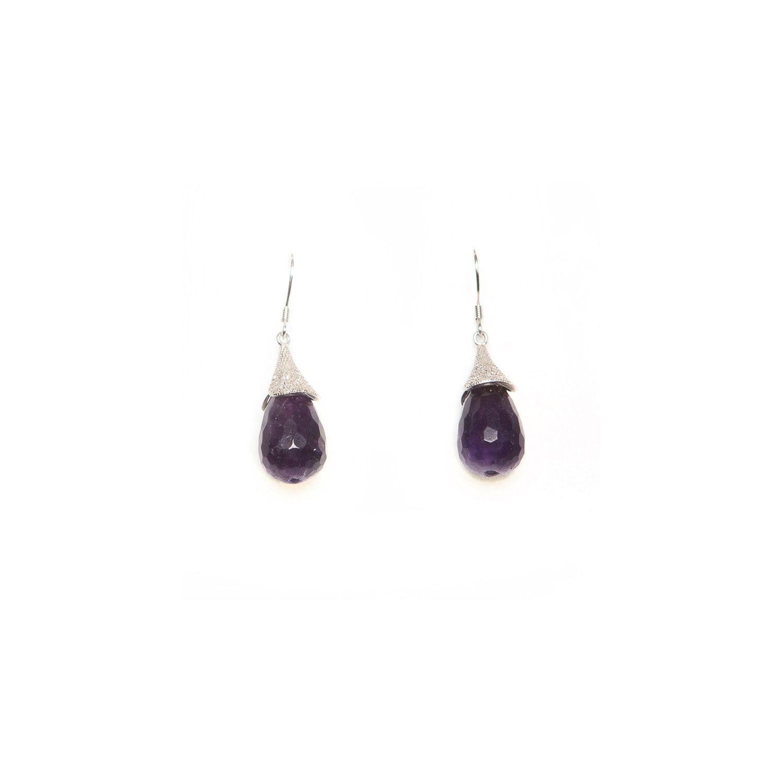 Lily silver amethyst earrings