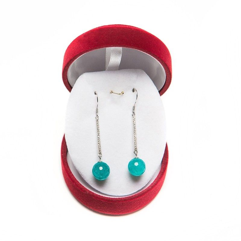 Agate silver turquoise earrings