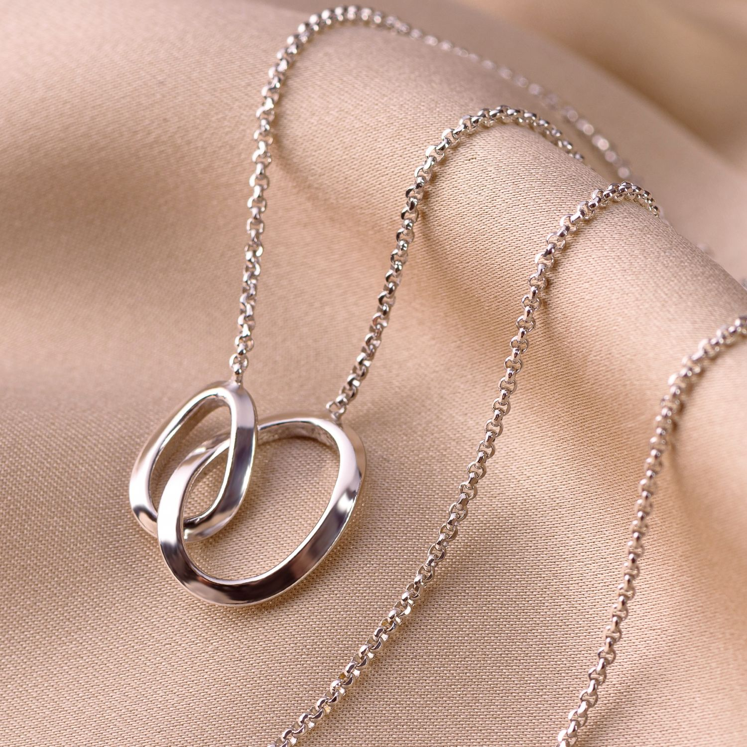 Sterling Silver Necklace Almost Infinity