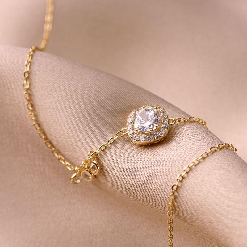 Bratara argint Fairyland gold