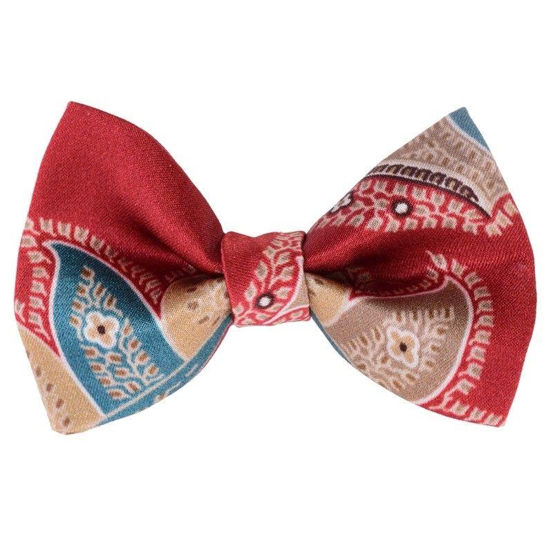 Paisley marsala bow