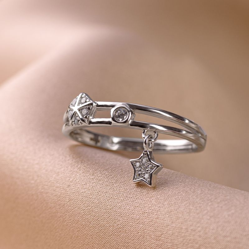 Sterling Silver Cool Vibe Star gold