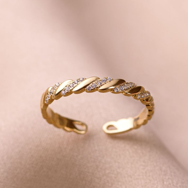 Inel argint nereglabil Togheter gold
