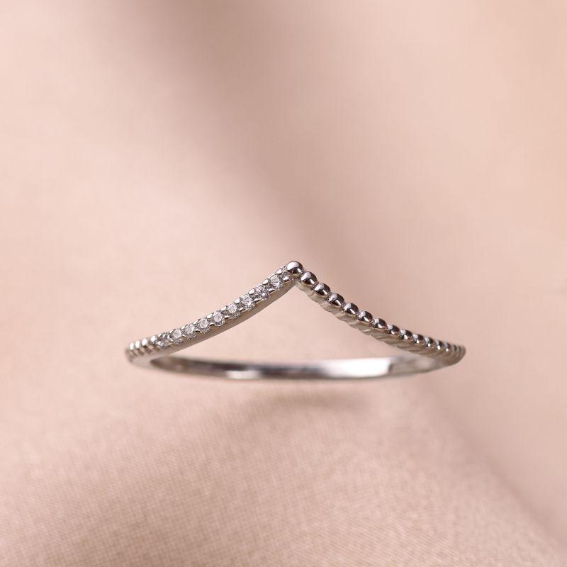 Inel argint nereglabil Minimal Wave