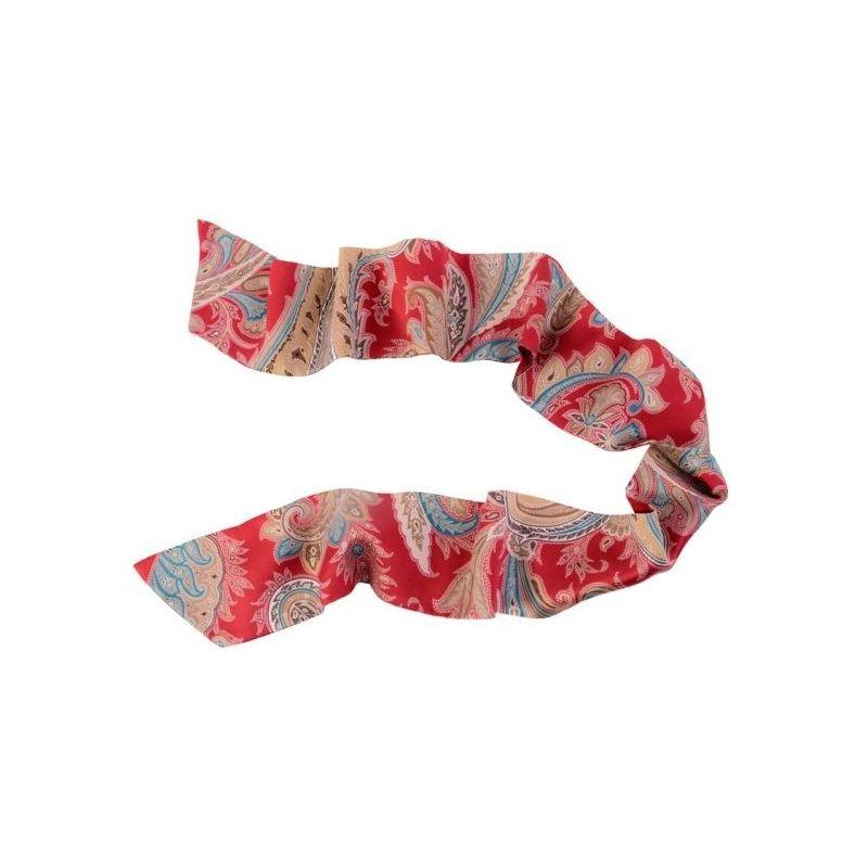 Eșarfă mătase naturală Paisley Marsala