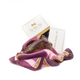 GIFT: Marina D'Este polo purple scarf and earrings of silver amethyst and rose quartz