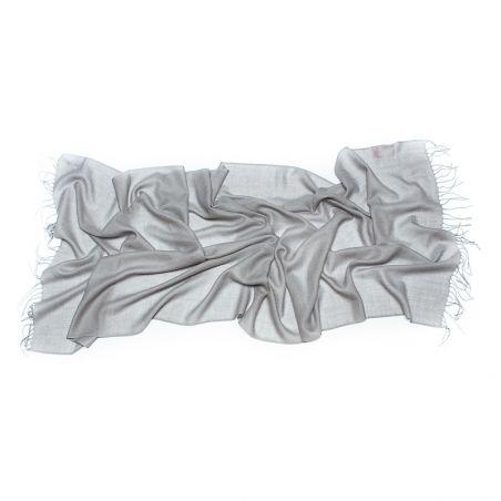 CADOU: Esarfa lana Mila Schon grey si bratara agate dantela mov