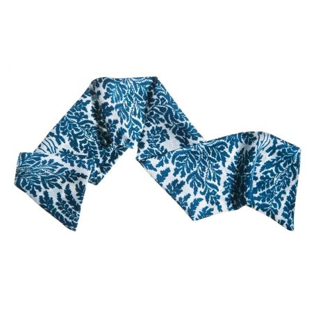Blue flowered hair scarf