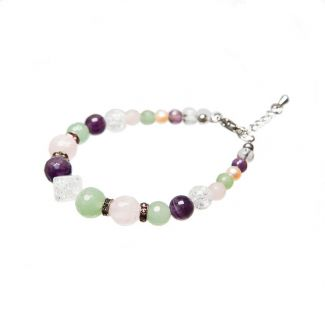 Aventurine quartz amethyst crystal bracelet ice