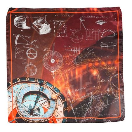 Silk Scarf M. Schon explore chocolate